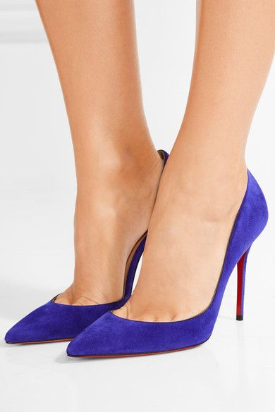 Christian Louboutin - Iriza 100 Suede Pumps - Purple - IT40