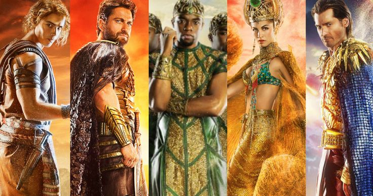 5 'Gods of Egypt' Character Posters Introduce the Cast -- Gerard Butler, Nicolas Coster-Waldau, Chadwick Boseman, Elodie Yung and Brenton Thwaites' characters are revealed in new 'Gods of Egypt' posters. -- http://movieweb.com/gods-egypt-movie-posters-characters-gerard-butler/