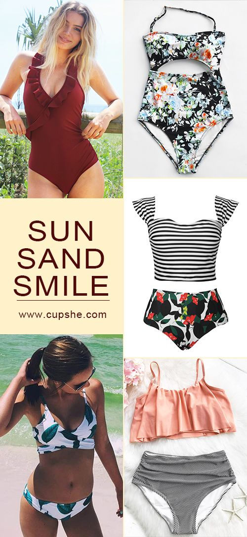 Hottest trending beach fashion here~ Put these pretty swimsuits into travel luggage, start your unforgettable seaside vacation. You gonna love these so much! Free shipping! Shop Now.