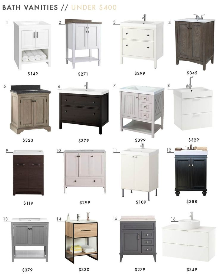 16 Readymade Bath Vanities Under $400