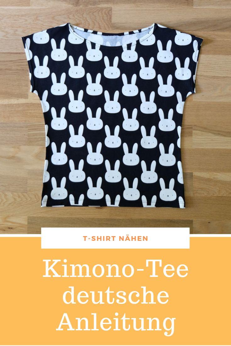 Kimono Tee deutsche Anleitung – Nähtalente – Nähen lernen leicht gemacht!