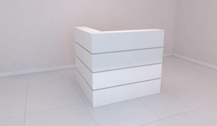 Projeto de Balcão para Recepção com frisos horizontais, um projeto que pode ser adaptado para qualquer medida pela marcena.com.br , ficando no tamanho ideal para seu espaço.