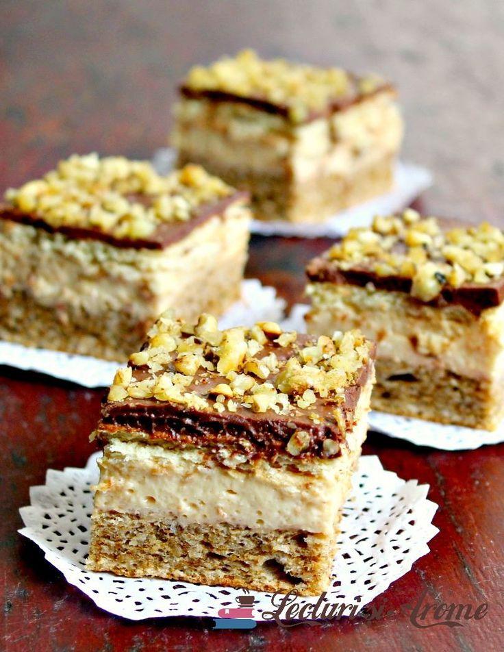 Prajitura cu crema caramel, biscuiti si ciocolata. Prajitura simpla si rapida. Prajitura usor de facut. Prajitura festiva.