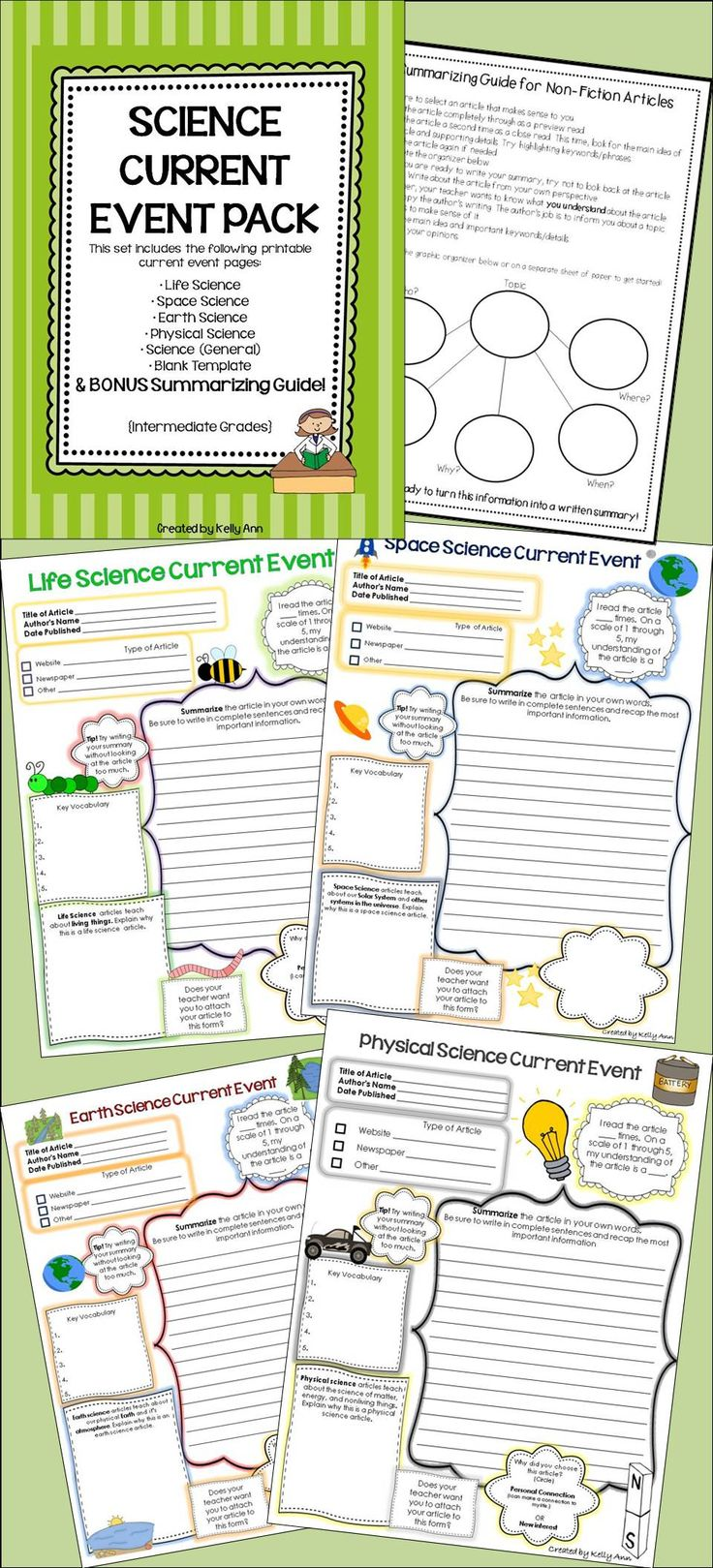 Science Current Event Pack for any branch of science!