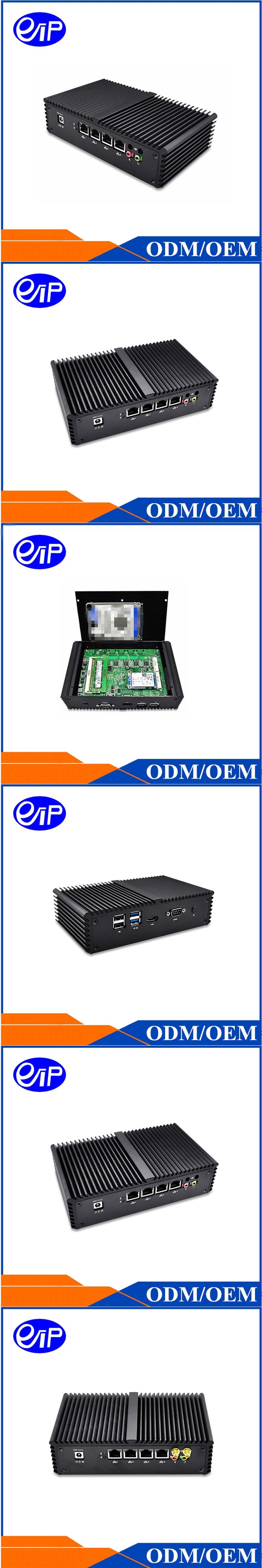 Cheap Desktop Mini PC computer Intel Celeron 3215u 1.7 GHz Dual core 8G RAM 4USB 4LAN HDD SDD Fanless Mini computer box linux