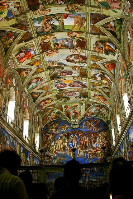 Sistine Chapel | The Vatican.... Sneaky tip!  When you exit, sneak out the right side door with a tour group.  You're a 2 minute walk to St. Peter's Basilica.  Exit left... 2 mile walk back through the Vatican, down the street then to a giant queue to get in the basilica.