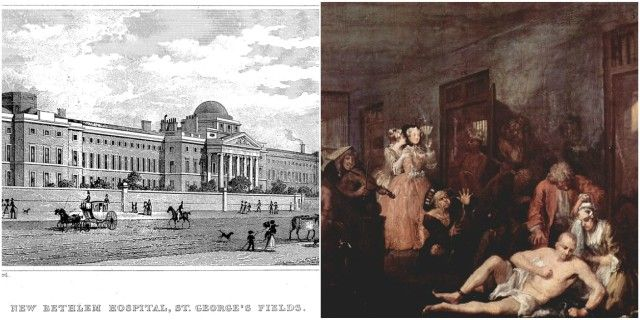 To raise hospital income, London's Bedlam Asylum allowed, for a penny, public and casual visitors to stare at caged patients