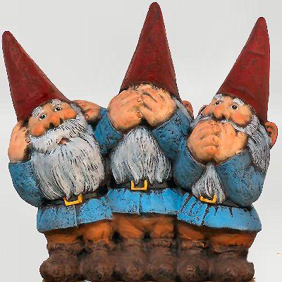 See no evil, Hear no evil, Speak no evil gnomes