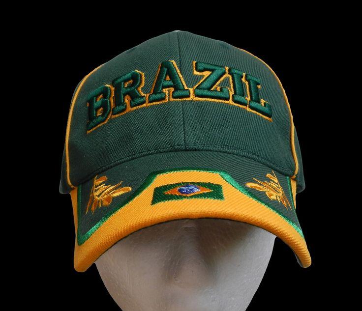 Brazil Brasil World Cup Soccer Sports Baseball Cap Hats