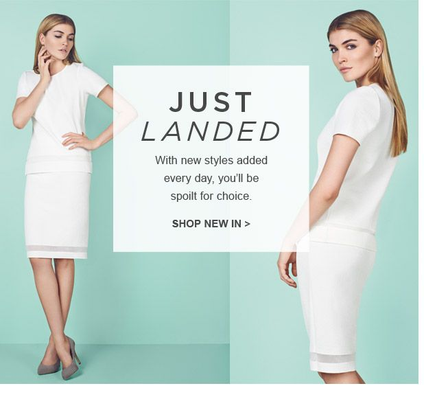 Just Landed > Shop new in