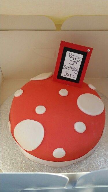 Spotty cake, red