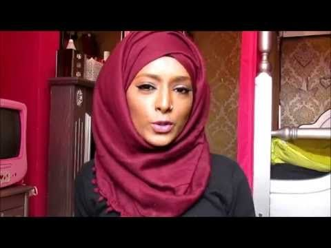 Middle parting hijab tutorial - YouTube