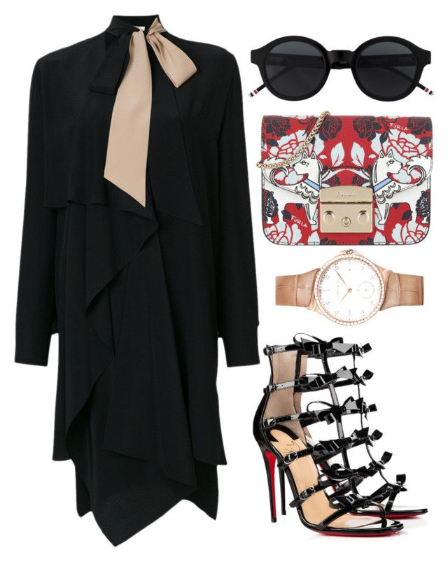 """Untitled #1595"" by onlyonedayatatime on Polyvore featuring Fendi, Christian Louboutin and Furla"