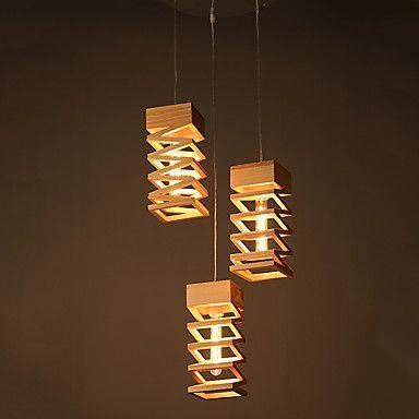 Κρεμαστά+Φωτιστικά+,++Μοντέρνο/Σύγχρονο+Ξύλο+Χαρακτηριστικό+for+LED+Ξύλο/μπαμπούΣαλόνι+Υπνοδωμάτιο+Τραπεζαρία+Κουζίνα+Δωμάτειο+–+EUR+€+77.71