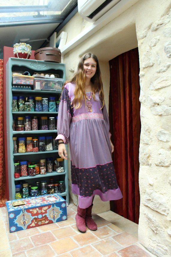 Reserved For Christine Long Boho Dress Wedding Fabrics Organza