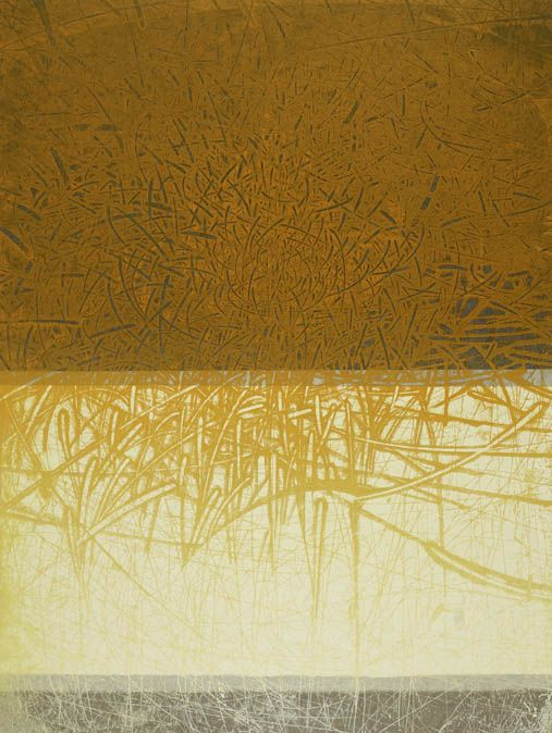 The days of Twining Wind- Things can be Bent etching by Yoko Hara and Takahiko Hayashi 2005 31 x 24 inches