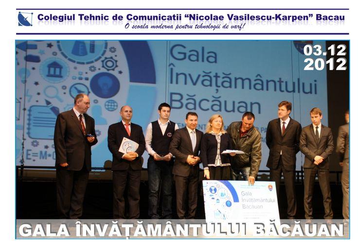 Gala învățământului băcăuan 2012