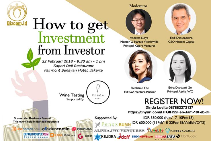 HOW TO GET INVESTMENT FROM INVESTOR EVENT Dunia Fintech