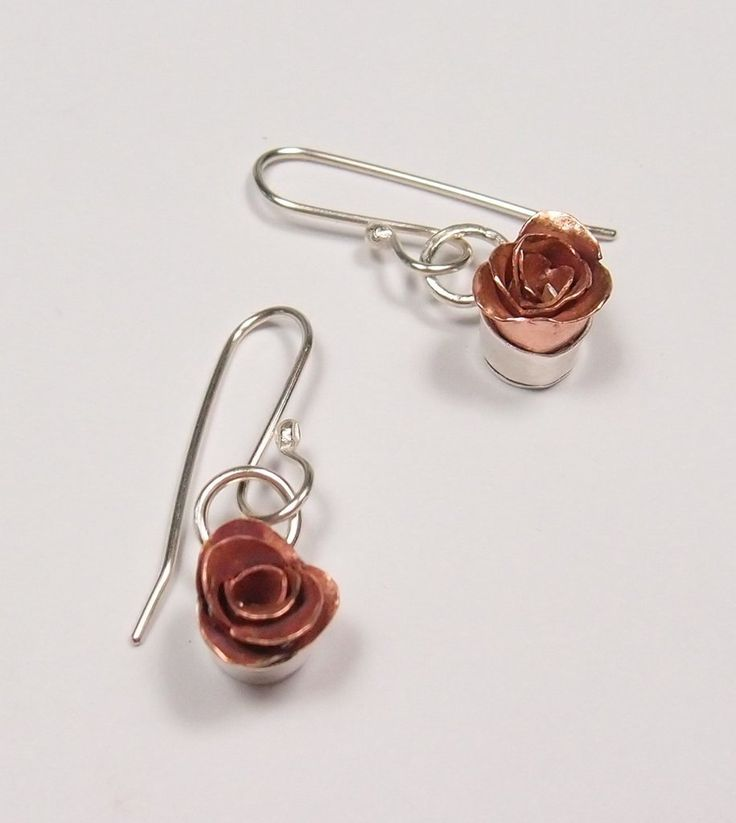Rose Earrings: Diane Connal