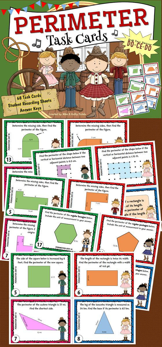 This perimeter pack contains a total of 68 task cards divided into three (3) sets. These cards are perfect for students at all levels to practice their skills on finding the perimeter of various shapes.