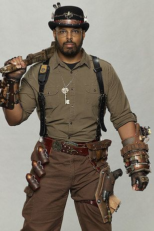 Get creative with accessories: harnesses, belts, holsters, and, of course, a big ass wrench. | 14 Fashions That Put The Steam In Steampunk