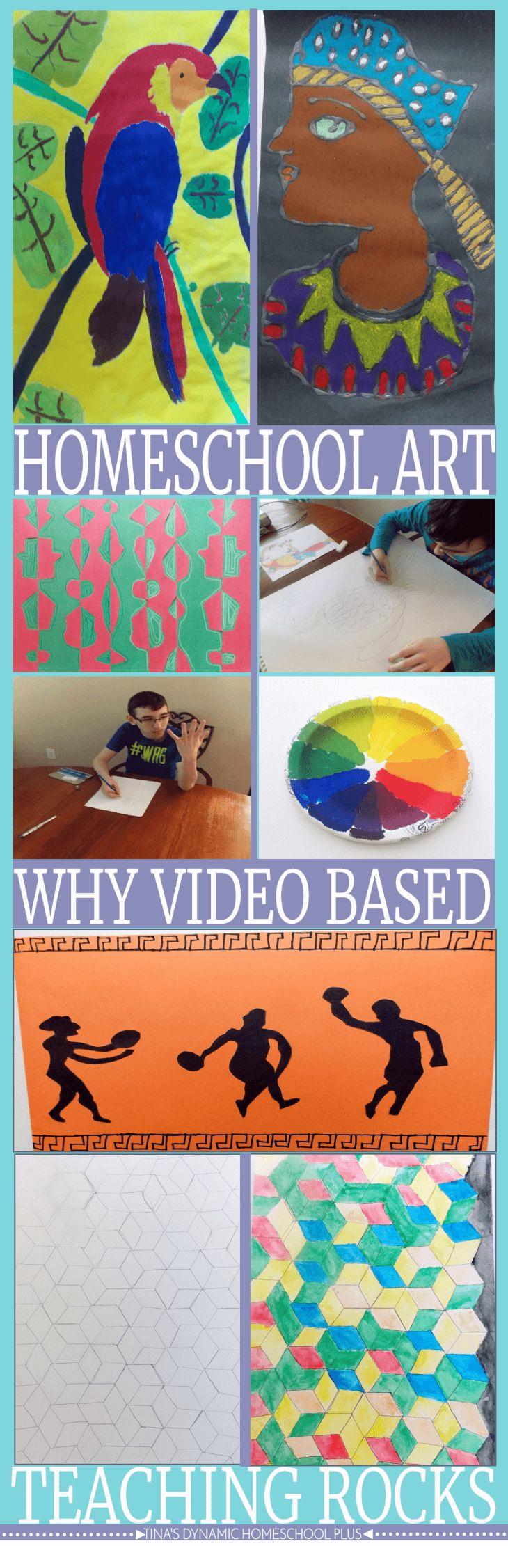 Homeschool Art (Why Video Based Teaching Rocks) @ Tina's Dynamic Homeschool Plus