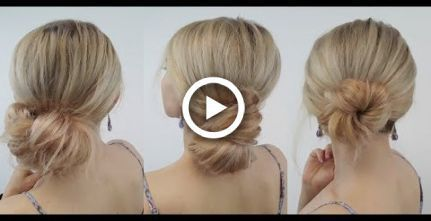 QUICK HAIRSTYLES EASY UNDER MINUTE SIDE MESSY BUNS   Awesome Hairstyles - Best - #Awesome #Buns #Easy #hairstyles #MESSY