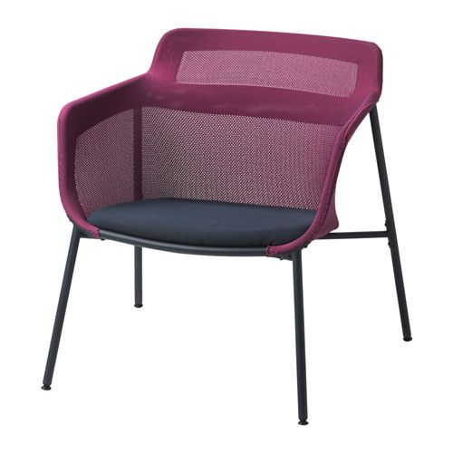 IKEA - IKEA PS 2017, Chair, pink/blue, , The soft mesh fabric supports your body and makes the chair comfortable to sit in.The armchair is lightweight and easy to move if you want to clean the floor or rearrange the furniture.