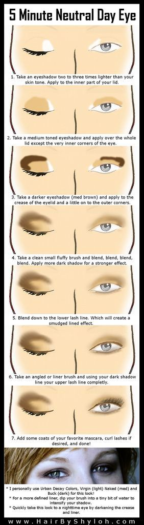 5 Minute Natural/Neutral Eye Makeup Step-by-Step