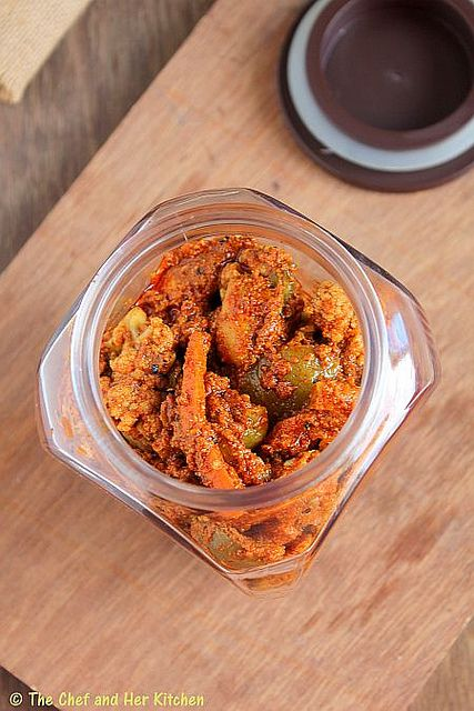 Spicy Mixed Vegetable Pickle -  North Indian Style