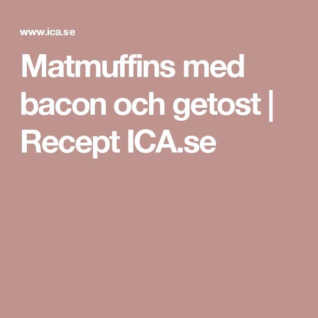 Matmuffins med bacon och getost | Recept ICA.se