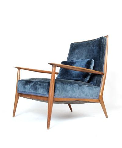 Paul McCobb blue directional chair
