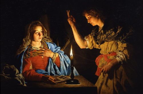 """The Witness of Mary and Joseph - """"Behold, I am the handmaid of the Lord. May it be done to me according to your word."""" Luke 1:38a (Year B)  As we enter into the fourth week of Advent, we are given our Blessed Mother and St. Joseph to reflect upon. Continue: https://catholic-daily-reflections.com/2017/12/23/the-witness-of-mary-and-joseph/#more-323"""
