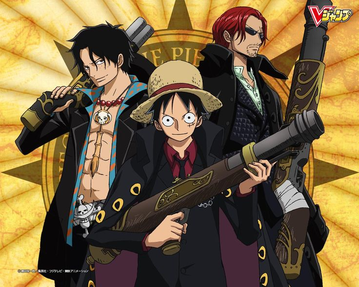 Ace/Luffy/Shanks - One Piece Photo (33030363) - Fanpop Strong World, maybe?