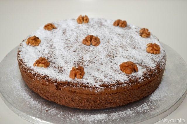 » Torta di noci e cioccolato Ricette di Misya - Ricetta Torta di noci e cioccolato di Misya