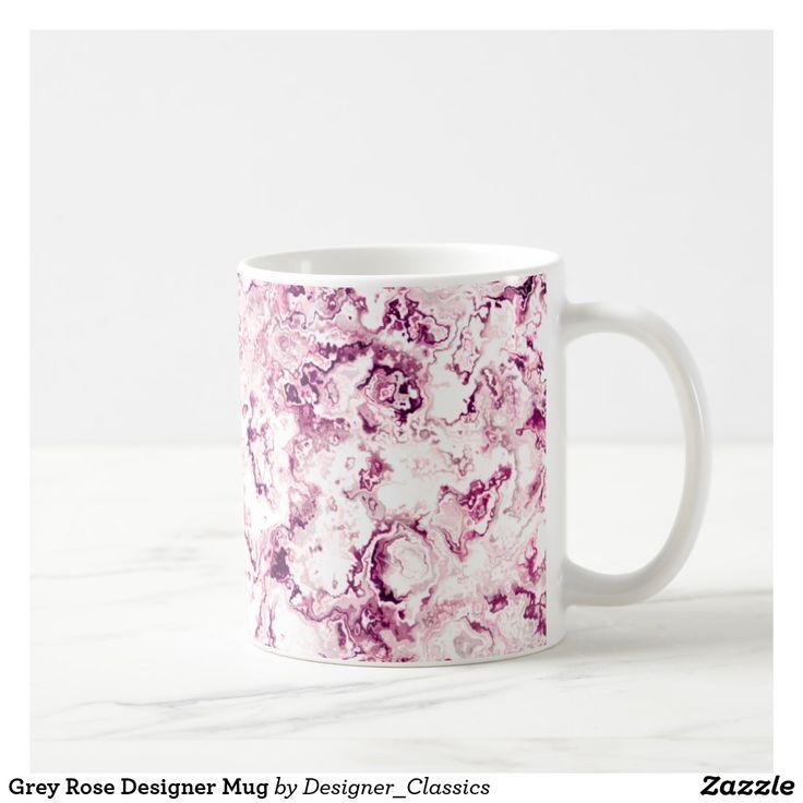 Grey Rose Designer Mug