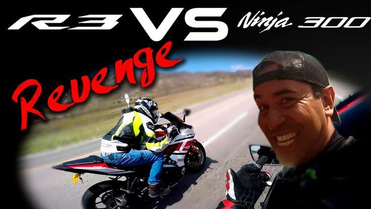 NINJA 300 VS YAMAHA R3 REVANCHA!! XMOTOS Drag Race