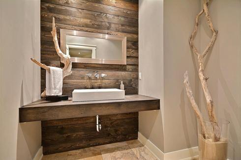 Salle de bain bois de grange