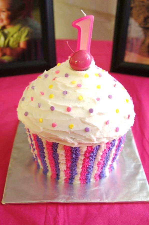 1st Birthday Cupcake Cake — Children's Birthday Cakes
