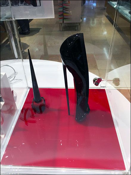 Flip back and forth between the two post listings below to explore differences between Mui Mui®display and Louboutin®Museum Case. Miu Miu flatter-than-flat Flats and Louboutin extreme-fetish High…