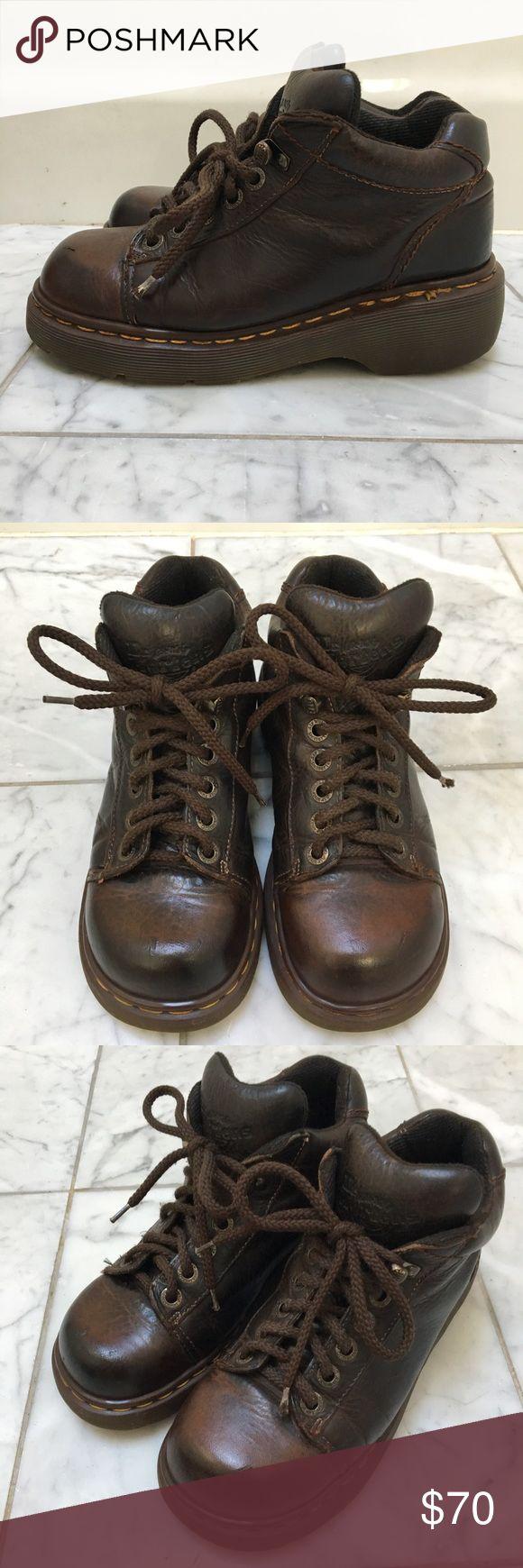Superb Dr Martens Dark Brown Airwair Ankle Boot