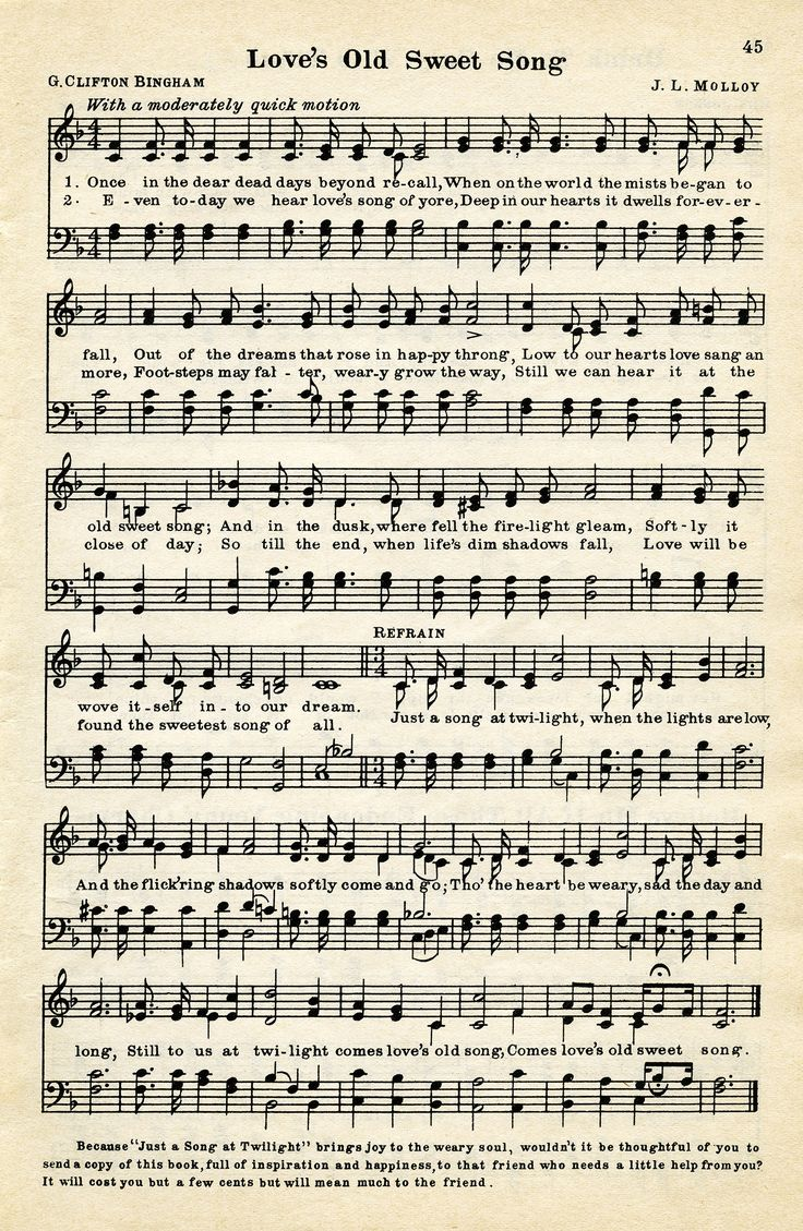 free freebie printable vintage sheet music
