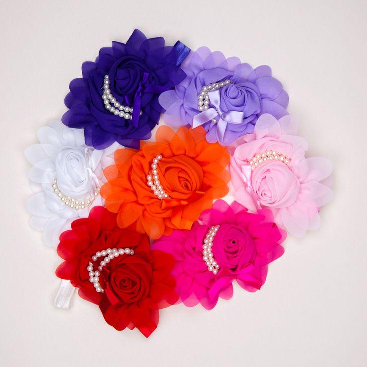 Rose & Pearls Baby Headbands