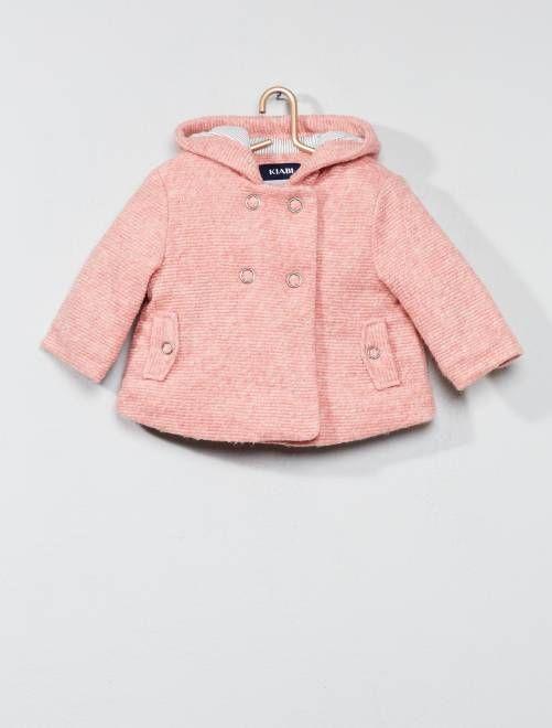grandes ofertas en moda el mejor límpido a la vista Abrigo de lana con forro de algodón ROSA Bebé niña - Kiabi ...