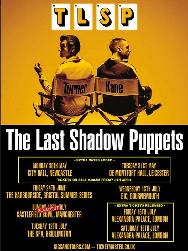 GoRockfest.Com: The Last Shadow Puppets Tour Dates 2016