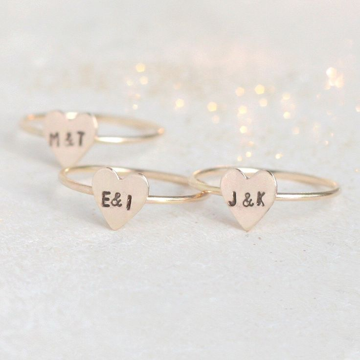 initial ring. gold heart ring. 14k gold filled stacking RING. custom initial jewelry. couples ring. best friend ring. Valentine's Day ring. by MeadowbelleMarket on Etsy https://www.etsy.com/listing/252952904/initial-ring-gold-heart-ring-14k-gold