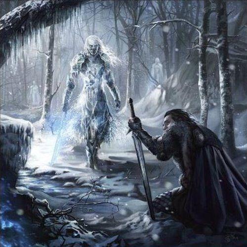 "A Song of Ice and Fire Calendar • art by Magali Villeneuve • Jan 2016 • ""Beyond the Wall"""