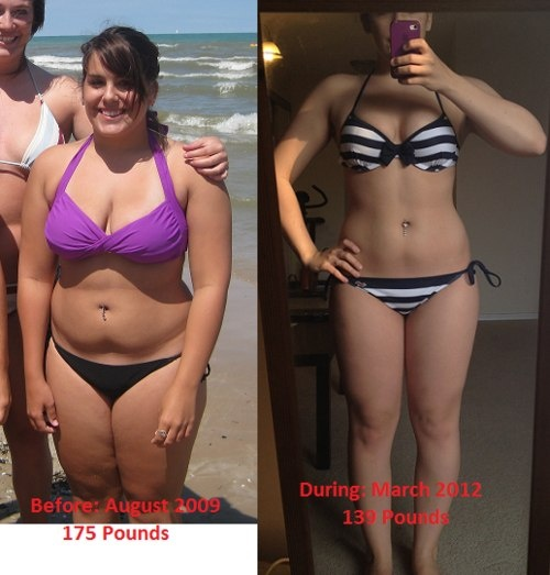 before and after weight loss success story photo visual