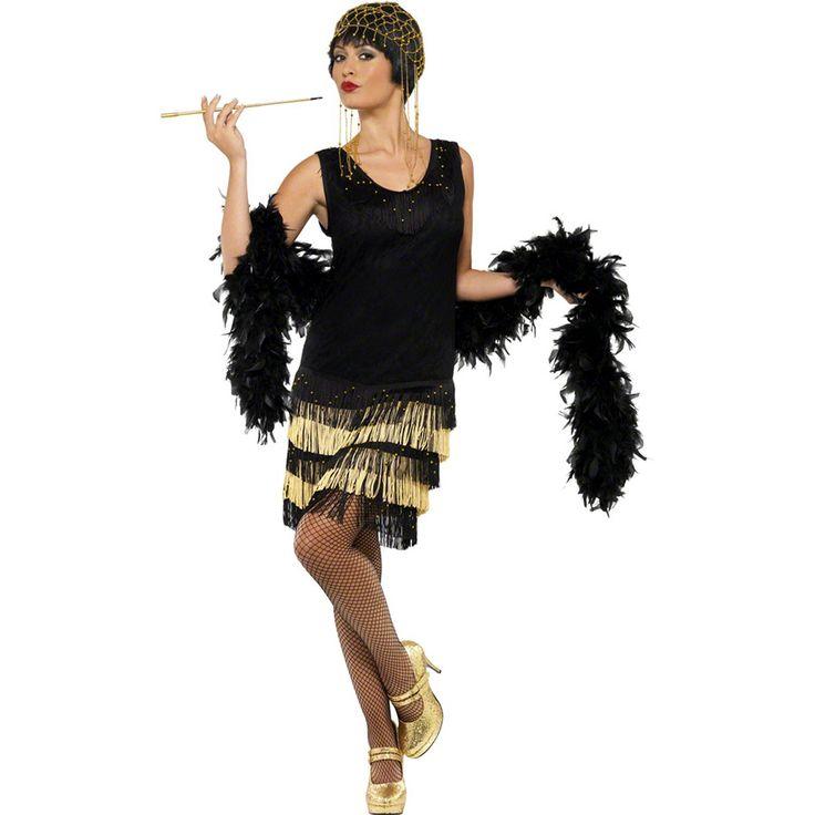 Robe charleston noir et or : manooba, achat de Deguisements adultes