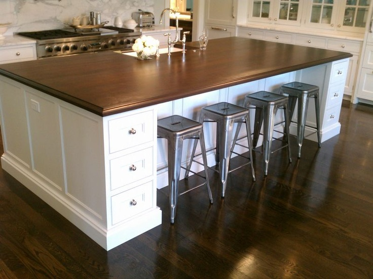 Look We Want? Brushed Nickel, Cream Cabinets, Dark Wood. Amish Custom  Kitchens